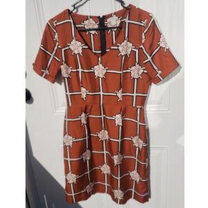 Fossil Rust Flower Dress